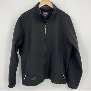 Adidas climaproof wind black zip up jacket XL